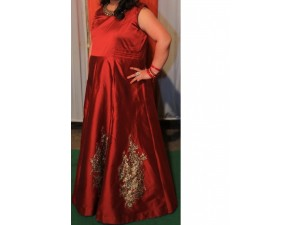 maroon-gown-xxl-size-small-0
