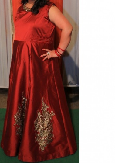 maroon-gown-xxl-size-big-0