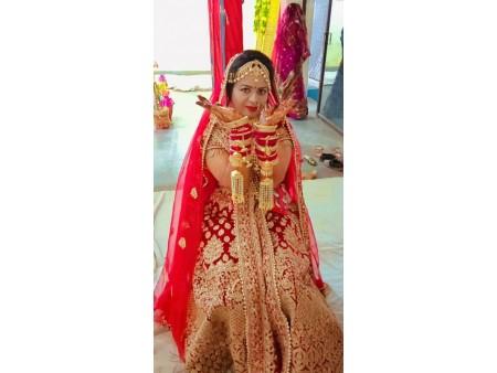 Lengha bridal nd side