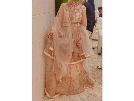 Party wear heavy sharara  with long skirt