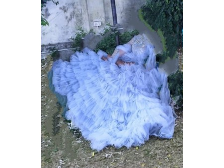 Crop top princess style designer dress classy wear