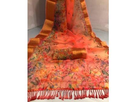 Brand New Organza Silk Saree