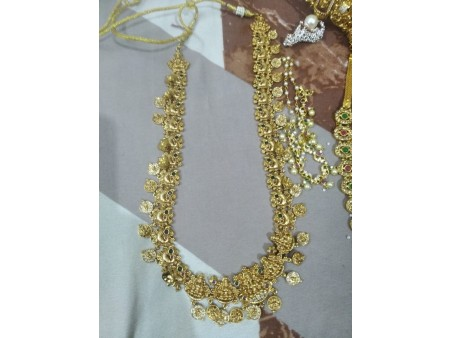 South indian 1 gram gold bridal  jewellery