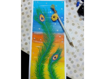 Beautiful Peacock Feather Painting