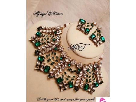 Party Wear Green Jewellery