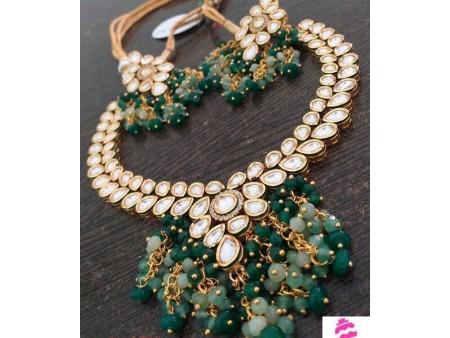Green Heavy Jewellery Set