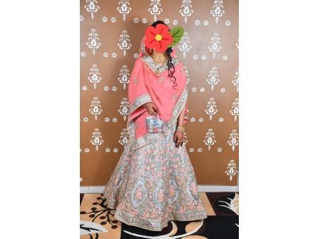 Branded Pastel Colour Bridal Lehenga