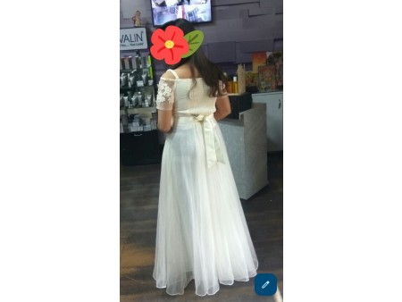 Elegant Designer White Color Gown